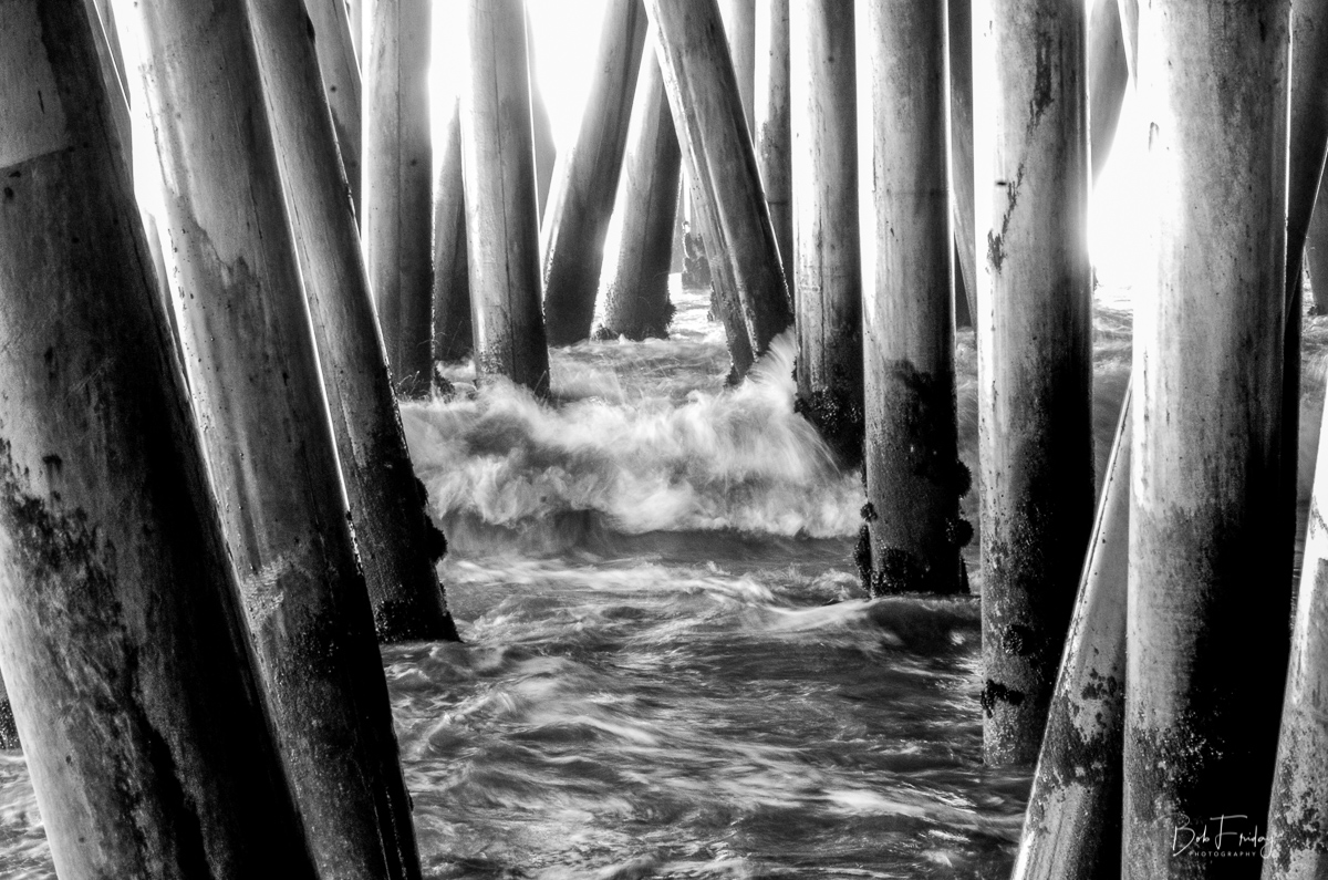 Under the Boardwalk B&W